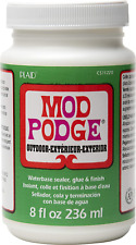 Mod Podge 236 Ml De Sellador/Pegamento Waterbase al aire libre y acabado, claro