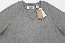 Men's PENGUIN Heather Gray Grey V-Neck Pima Cotton Sweater L Large NWT NEW $79+