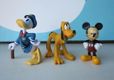 Disney Lot of 3 PVC Figures Cake Toppers Pluto Mickey and Donald