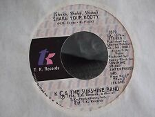 45B KC AND THE SUNSHINE BAND SHAKE YOUR BOOTY / BOOGIE SHOES ON TK RECORDS