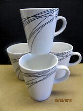 "MIKASA  ""UNRAVELED""  8 COFFEE MUGS   GREAT LOOK!! $64 VALUE"