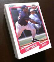 50) KIRBY PUCKETT Minnesota Twins 1990 Fleer Baseball Card #383 LOT
