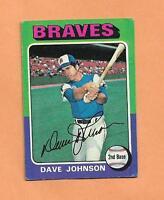 DAVE JOHNSON TOPPS 1975 CARD # 57