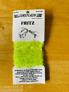 LUREFLASH FRITZ MOTOR OF PEARL CHENILLE FLUO YELLOW FLYING MATERIALS