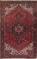 Mansion Vintage Geometric Red Oriental Hand-Knotted Area Rug 10x16