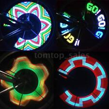 Bike 32LED Colorful Rainbow LED Wheel Signal Lights for Bikes bicycles T1Y1