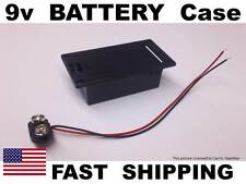CUSTOM Guitar parts 9v battery FLUSH MOUNT with 4 screw holes 9 volt case box