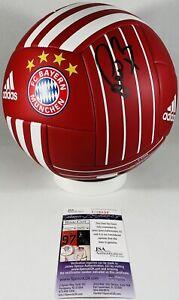 BASTIAN SCHWEINSTEIGER SIGNED FC BAYERN MUNICH SOCCER BALL GERMANY AUTO +JSA COA
