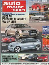 Auto Motor Sport 26/2009 : Vergleichstest - Audi R8 , Porsche Turbo, Nissan GT-R