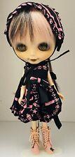 Sweet Custom OOAK Blythe Harajuku / Goth Doll