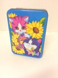 Lisa Frank Sunflower Kittens Collector Tin Playtime Cat Vintage 90s Metal Box
