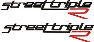 Triumph street triple R vinyl stickers