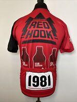 Micro Beer Jerseys MBJ Red Hook Retro Cycling Jersey Short Sleeve Shirt L