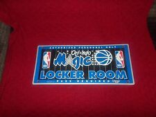 ORLANDO MAGIC LOCKER ROOM SIGN