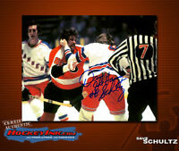 Dave Schultz SIGNED Flyers 8X10 Photo -70087