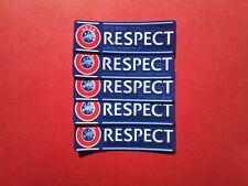 5 x Respect Badge Patch Nouveau 2012 / 2018