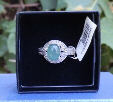Green Onyx Sterling Silver Ring Size 7