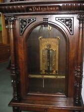 """Münz Polyphon Automat Spieluhr antique music box crank automaton 1 disc 19 5/8"""""""