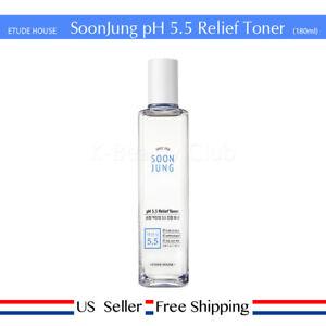 Etude House SoonJung pH 5.5 Relief Toner 180ml  + Free Sample [US Seller]