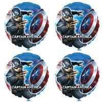 Marvel Avengers Captain America super Hero X 4 Balloons helium party birthday