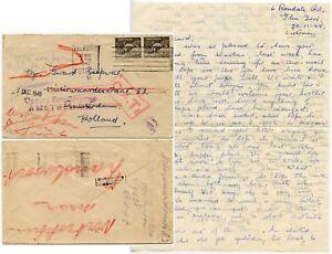 AUSTRALIA 1945 ONWARD AIR TRANSMISSION + LETTER + FORWARDED No.8 BOXED HOLLAND