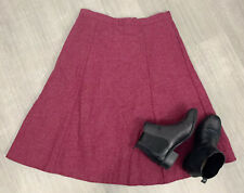 Country Casuals 100% Pure Wool A Line Skirt  Sz 16 Purple Pockets Long Length
