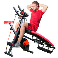 Bench Press Sit Up Abs Exerciser+Cycling Bike Multifunction Fitness Machines Gym