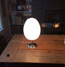 Mid Century Modern Vintage Retro Bill Curry Style Chrome & Glass Egg Lamp