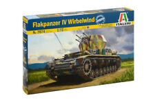 Italeri WWII German Flakpanzer IV Wirebelwind - 1:72 Scale Model Kit -7074
