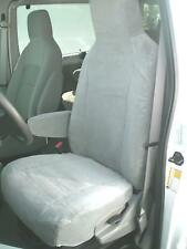 2009-2018 Ford E150-E450 Van Front Buckets, Exact Fit Car Seat Covers in Gray