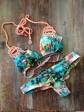 Luli Fama ~ Miami Nice ~ SALE ~ bikini ~ Size XS tropical print w/crochet detail