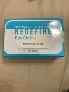 Rodan + Fields REDEFINE Eye Cloths, Fresh 30 Cloths New Sealed