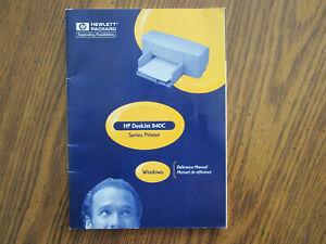 Hewlett Packard HP DeskJet 840C Printer Manual 1999, in English/French