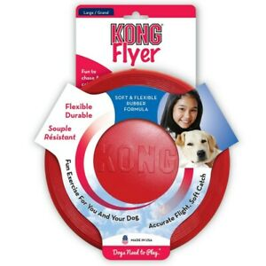 KONG Flyer Fun Fetch Dog Puppy Play Toy Large FAST &FREE POSTAGE
