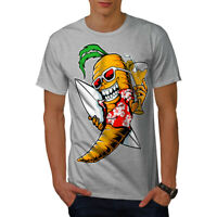 Wellcoda Surf Vegetable Funny Mens T-shirt, Summer Graphic Design Printed Tee
