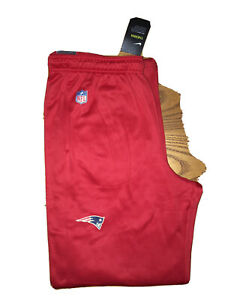 NIKE NEW ENGLAND PATRIOTS NFL MENS RED SIDELINE PRACTICE PERFORMANCE PANTS LARGE