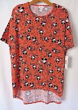 Lularoe Irma DISNEY Shirt Half Sleeve Coral with Minnie Mouse Print XS #5288