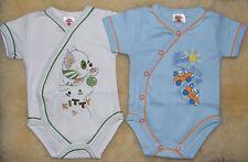 2er Pack Wickelbody mit kuzen Ärmeln Babybody Unterwäsche Gr. 50 Baumwolle NEU