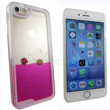 Pellicola+Custodia Dynamic Swimming liquido rosa trasparente p iPhone 6 6S cover