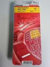 Anschlußkabel ISDN - NTBA -  Hama 6,0m  6p2c