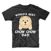 Chow Chow Dad Shirt - World's Best Chow Chow Dad Dog Owner T-Shirt