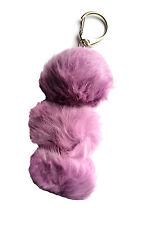 Rabbit Fur Keychain - Purple