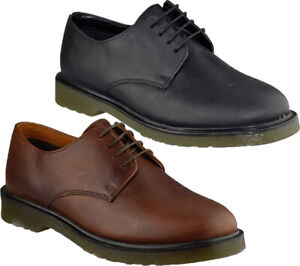 Mens Leather Casual Shoes Smart Lace Up Lightweight Formal Work Office Shoes