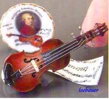Geige + Zubehör, My Melodie, Reutter-Miniatur im Maßstab 1:12