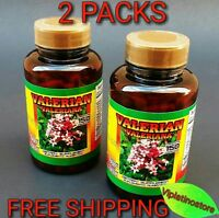2 Packs VALERIANA 300 Capsules VALERIAN 500 mg. each Nervous System EXP 06/2021