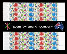 100 x Bubblegum Tyvek, party, security, event, school wristbands