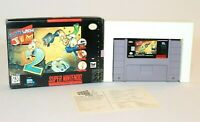 Earthworm Jim 2 SNES Super Nintendo AUTHENTIC & Tested w/ BOX & REGISTRATION!