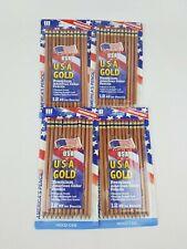 Write Dudes U.S.A Gold Premium American Cedar Pencils 12 Pack lot of 4