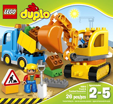 LEGO Town Truck and Tracked Excavator Building Set with 2 Construction Workers