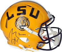 "Joe Burrow LSU Tigers Signed Riddell Speed Authentic Helmet with ""Burreaux"" Insc"